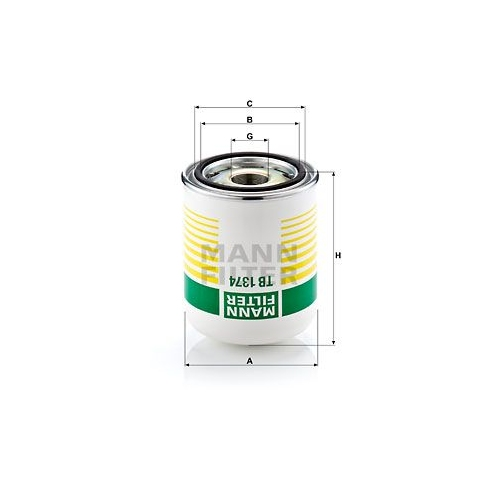 Lufttrocknerpatrone Druckluftanlage Mann-filter TB 1374 x für Daf Ford Iveco Erf