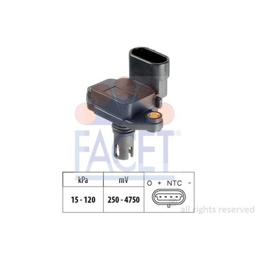 Luftdrucksensor Höhenanpassung Facet 10.3086 Made In Italy - Oe Equivalent für