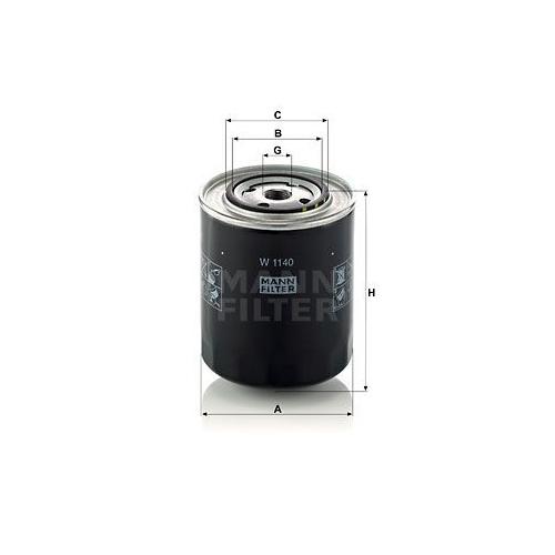 1 Filter Arbeitshydraulik Mann-filter W 1140 für Fiat Ford Iveco Case Ih Same