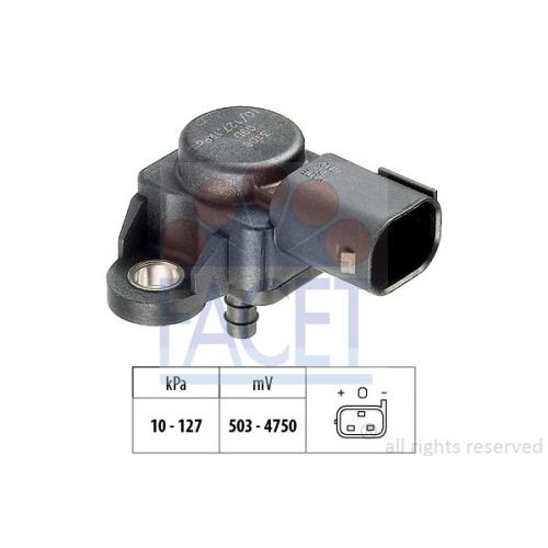 Luftdrucksensor Höhenanpassung Facet 10.3106 Made In Italy - Oe Equivalent für