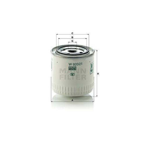 Filter Arbeitshydraulik Mann-filter W 920/21 für Chrysler Fiat Ford Lada Peugeot