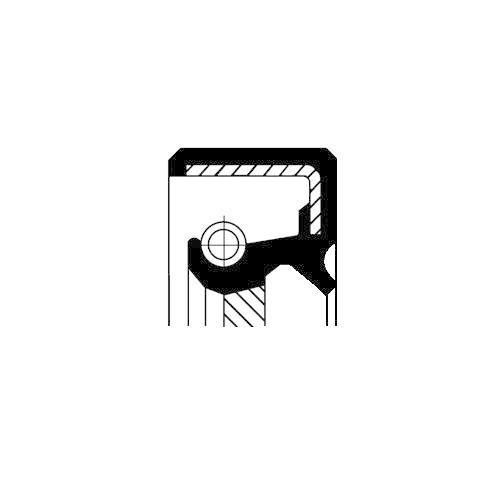 Wellendichtring Kurbelwelle Corteco 19016598B für Mitsubishi Getriebeseitig