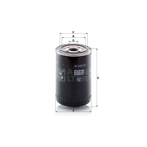 1 Filter, Arbeitshydraulik MANN-FILTER W 940/18 für VOLVO O & K LIEBHERR CLAAS