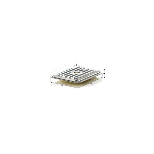 Hydraulikfilter Automatikgetriebe Mann-filter H 2019 KIT 2 für Ford Vag