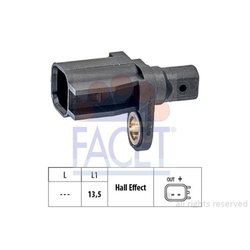 1 Sensor, Raddrehzahl FACET 21.0136 Made in Italy - OE Equivalent für FORD VOLVO