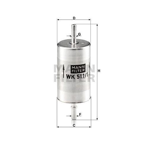 1 Kraftstofffilter MANN-FILTER WK 511/1 MERCEDES-BENZ