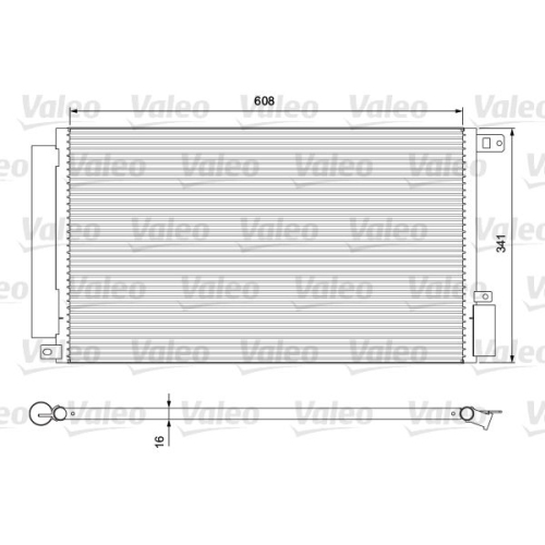 Kondensator, Klimaanlage VALEO 814380 für ALFA ROMEO FIAT