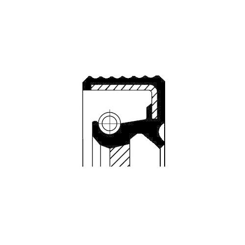 Wellendichtring, Differential CORTECO 12036825B für ALFA ROMEO FIAT FORD LANCIA