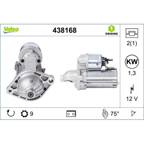 Starter VALEO 438168 VALEO ORIGINS NEW für ALFA ROMEO FIAT LANCIA OPEL VAUXHALL