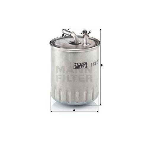 Kraftstofffilter Mann-filter WK 822/3 für Mercedes Benz Mercedes Benz