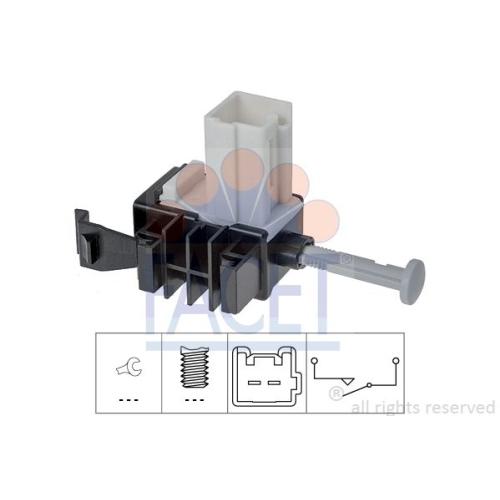 Schalter Kupplungsbetätigung (gra) Facet 7.1266 Made In Italy - Oe Equivalent