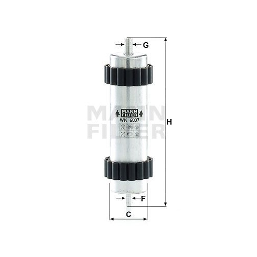 Mann Filter WK 1136 Kraftstofffilter