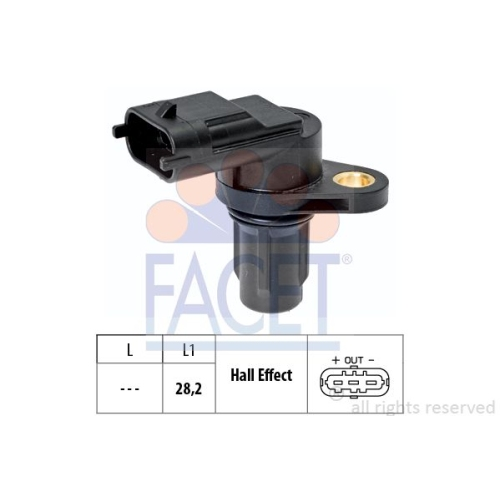 Sensor Nockenwellenposition Facet 9.0573 Made In Italy - Oe Equivalent für Kia