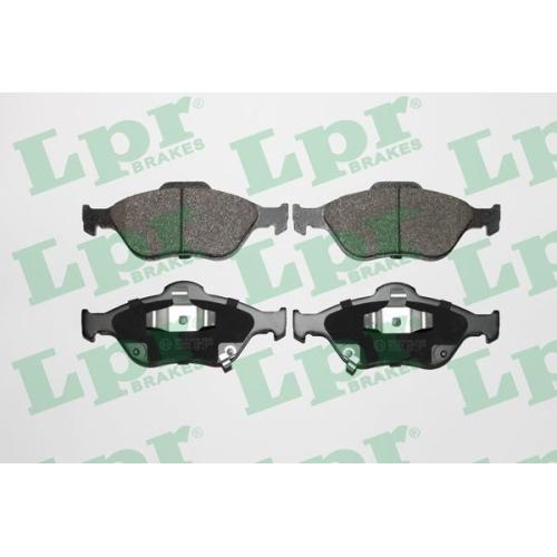 4 Bremsbelagsatz, Scheibenbremse LPR 05P1283 für TOYOTA, Vorderachse