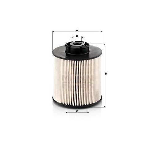 1 Kraftstofffilter MANN-FILTER PU 1046/1 x für MERCEDES-BENZ CLAAS GROVE GRADALL