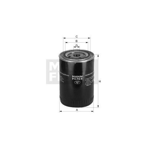 1 Filter, Arbeitshydraulik MANN-FILTER W 1372 für