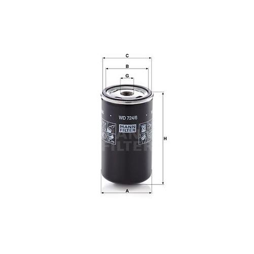 1 Filter, Arbeitshydraulik MANN-FILTER WD 724/6 für MERCEDES-BENZ BOMAG CASE IH