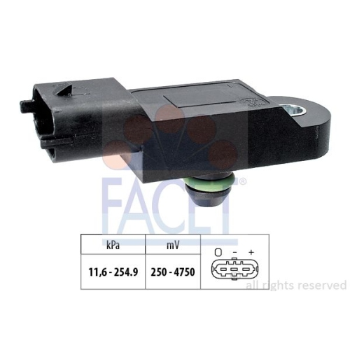 1 Luftdrucksensor, Höhenanpassung FACET 10.3173 Made in Italy - OE Equivalent