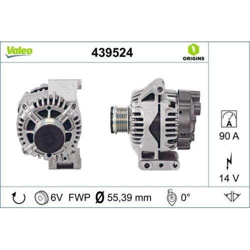 Generator VALEO 439524 NEW ORIGINAL PART FIAT LANCIA OPEL SUBARU SUZUKI VAUXHALL