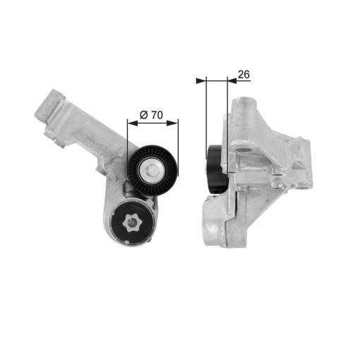 Riemenspanner Keilrippenriemen Gates T38444 Drivealign® für Ford
