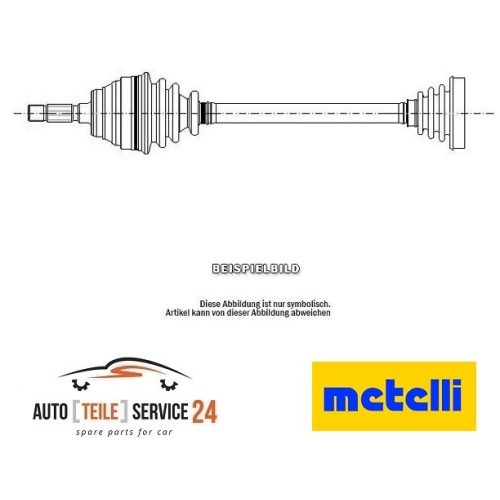 Antriebswelle Metelli 17-0706 für Citroën Peugeot Vorderachse Links