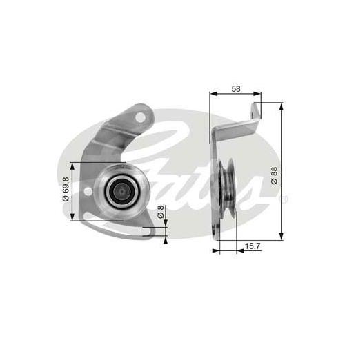 Spannrolle Keilriemen Gates T36043 Drivealign® für Renault