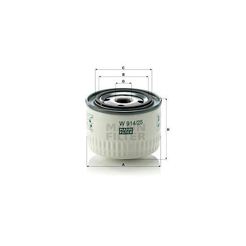 1 Hydraulikfilter Automatikgetriebe Mann-filter W 914/25 für Renault Trucks