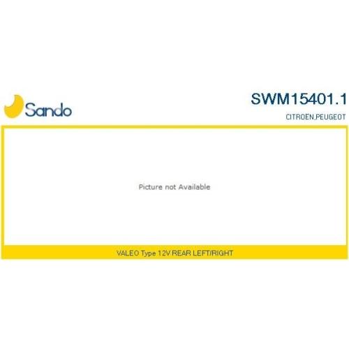 Wischermotor Sando SWM15401.1 für Citroën/peugeot Hinten