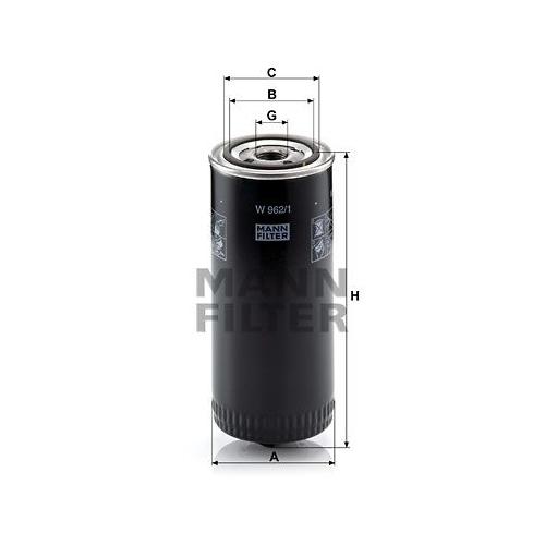 Filtro Sistema Idraulico Di Lavoro Mann-filter W 962/1 per Renault Trucks