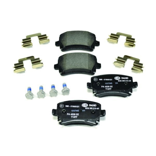1 Bremsbelagsatz, Scheibenbremse HELLA PAGID 8DB 355 010-601 für AUDI SEAT SKODA