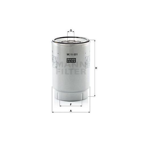 Kraftstofffilter Mann-filter WK 11 001 X für Mack Volvo Renault Trucks