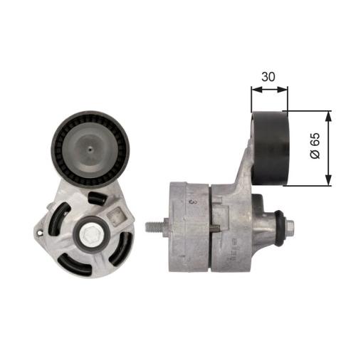 Riemenspanner Keilrippenriemen Gates T39108 Drivealign® für Ford