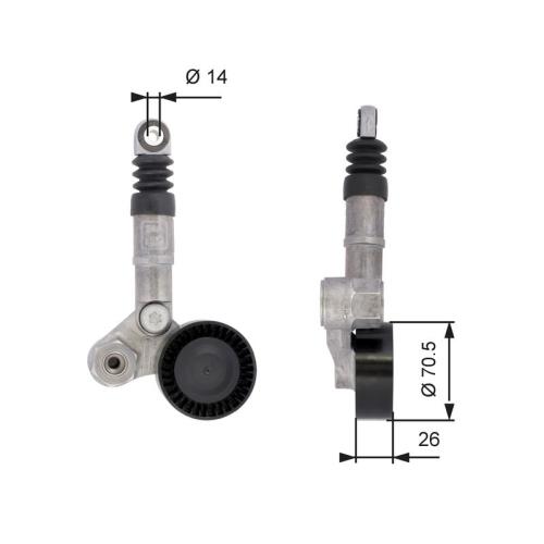 Riemenspanner Keilrippenriemen Gates T39113 Drivealign® für Alfa Romeo