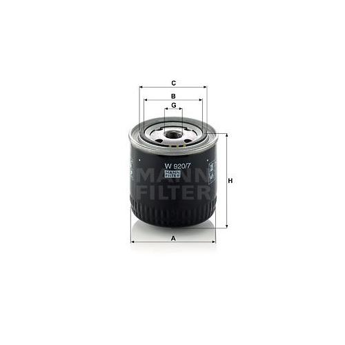 Filter Arbeitshydraulik Mann-filter W 920/7 für Ford Renault Scania Volvo Steyr