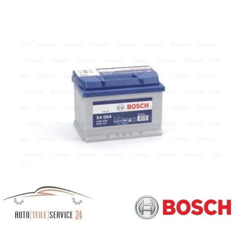 bosch s4 004 60ah 540a 12v autobatterie starterbatterie. Black Bedroom Furniture Sets. Home Design Ideas