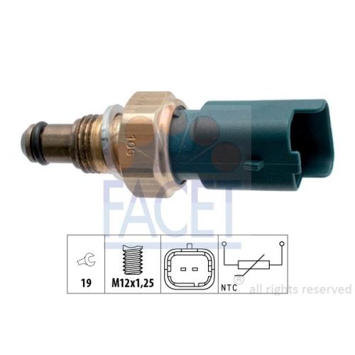 Sensor Kraftstofftemperatur Facet 7.3317 Made In Italy - Oe Equivalent für Fiat