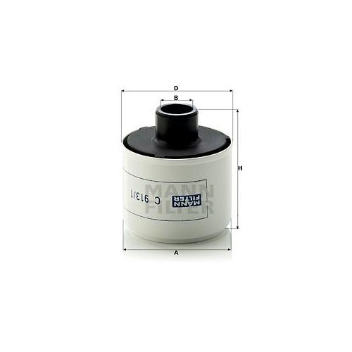 1 Luftfilter, Kompressor-Ansaugluft MANN-FILTER C 913/1 für VOLVO