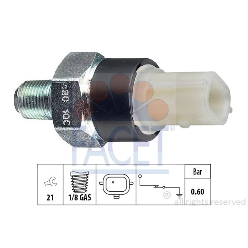 1 Öldruckschalter FACET 7.0180 Made in Italy - OE Equivalent für MERCEDES-BENZ