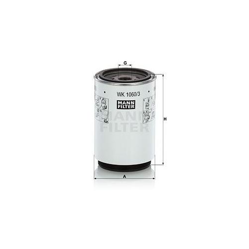 1 Kraftstofffilter MANN-FILTER WK 1060/3 x für DAF MERCEDES-BENZ SCANIA VOLVO
