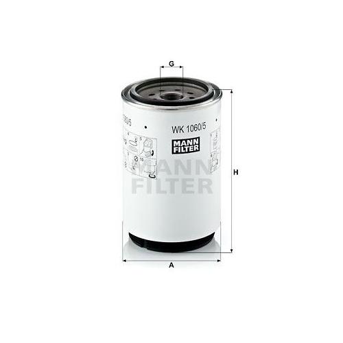 Kraftstofffilter Mann-filter WK 1060/5 x für Iveco Volvo Hino Liebherr Claas
