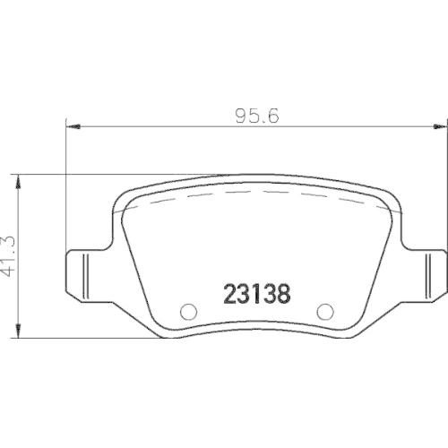 1 Bremsbelagsatz, Scheibenbremse HELLA PAGID 8DB 355 012-131 für MERCEDES-BENZ