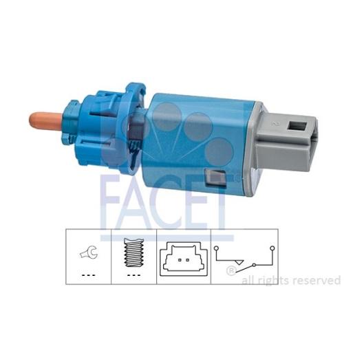 Schalter Kupplungsbetätigung (gra) Facet 7.1274 Made In Italy - Oe Equivalent