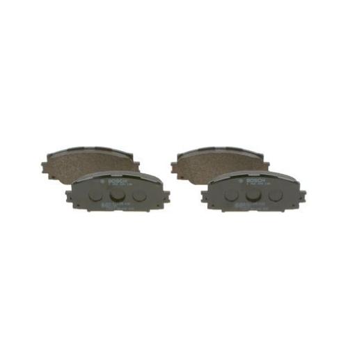 4 Bremsbelagsatz, Scheibenbremse BOSCH 0986494198 für TOYOTA LEXUS, Vorderachse