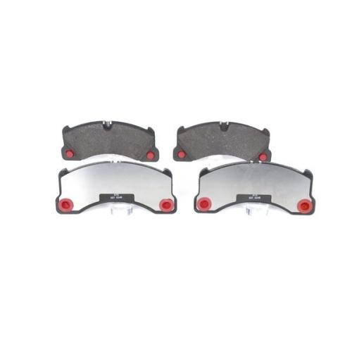 4 Bremsbelagsatz, Scheibenbremse BOSCH 0986494206 für PORSCHE VW, Vorderachse