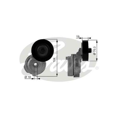 Riemenspanner, Keilrippenriemen GATES T38176 DriveAlign® CHRYSLER