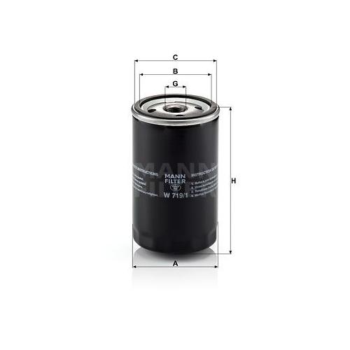 Filter Kurbelgehäuseentlüftung Mann-filter W 719/1 für Citroën Ford Opel