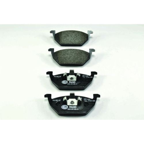 1 Bremsbelagsatz, Scheibenbremse HELLA PAGID 8DB 355 008-591 für AUDI SEAT SKODA