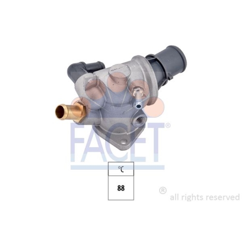1 Thermostat, Kühlmittel FACET 7.8122 Made in Italy - OE Equivalent für FIAT