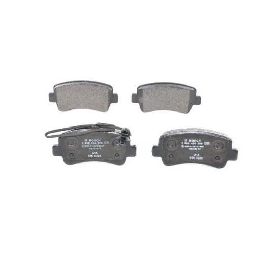 4 Bremsbelagsatz, Scheibenbremse BOSCH 0986494500 für NISSAN OPEL RENAULT SAAB