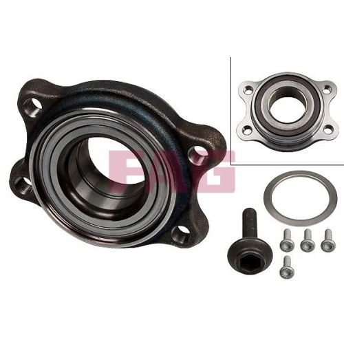 1 Radlagersatz FAG 713 6104 80 für AUDI VW, Hinterachse, Vorderachse